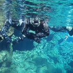 Snorkeling in dry suits