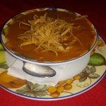The chicken tortilla soup