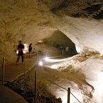 Chemin parcouru dans la grotte.