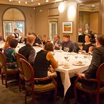 After the Jane Seymour Art Exhibition, private dinner at La chaumiere