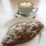 Housemade Almond Double Baked Croissant - perfect pairing with a cappuccino!