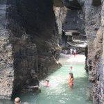 Una piscina de agua salada