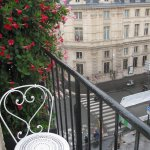 Our fifth floor balcony -the perfect retreat for breakfast and fresh air.