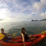 Kayaking to the beach