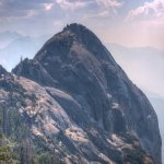 Moro Rock and the smoke of the wildfires on Sept 1st, 2017.