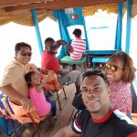 Boat ride to Kampong Phluk floating village with our guide Mr. Chhay
