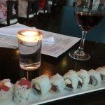 Tasty sushi roll