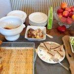 Une partie du buffet petit-déjeuner