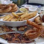 Blackened Flounder and Fried Shrimp