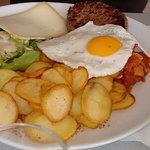 Assiette compète avec steak (9.00)