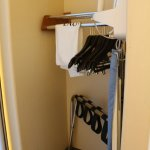 Room 122, Lowered closet pole and iron