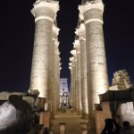 one of the many features of Karnak Temple at night