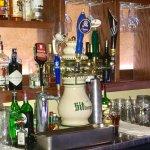 Behind Ingrid's Bar