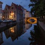 Hotel Ter Brughe in Brugge in de avond