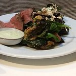 Fillet of beef with mustard, horseradish and rocket sour cream !!