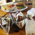 tenderloin & fries, fish tacos
