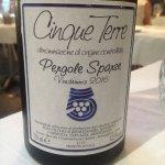 Delicious local white wine