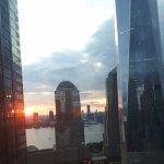 le soleil se couche sur NY