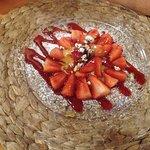Fresh strawberries and zabaione