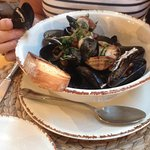 Sauteed mussels and clams