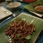 Silk Worms, they actually taste ok.