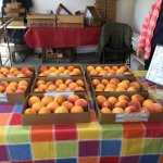 more peaches on display