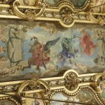 One of the beautiful ceiling paintings in Palais Garnier.
