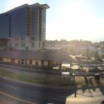 Panoramic from balcony. The big building is the Hilton Conference Center hotel