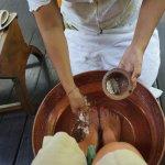 Foot cleansing pre-spa