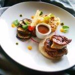 Beef Tenderloin Rossini with Fresh duck Foie gras