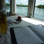 Rhine river & local beer
