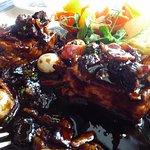 pork fillet in red wine sauce