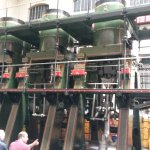 The 3 massive cylinders on the steam engine