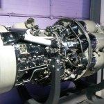 A Rolls-Royce Avon jet engine