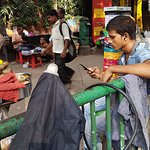Listening to music and selling street food