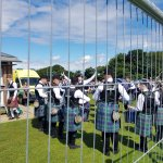 Pipe Band rehersing