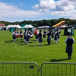 Pipe Band being judged