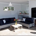 Patio area for barbecues or breakfasts