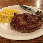 Steak and corn (off the cob).