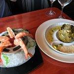 Shrimp Cocktail and Artichoke Appetizer