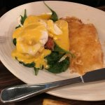 Crab Cake Benedict, great!