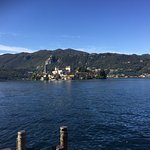 View of the Isola d'Orta from the restaurant table.