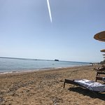 Lovely sandy beach outside the hotel