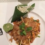 Pad Thai in restaurant