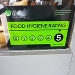 They now have a food hygiene rating of 5