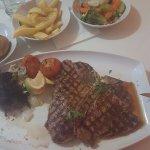 T Bone Steak & Chicken in Jack daniels sauce
