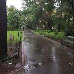 The beautiful Planty Park.
