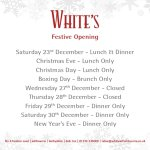 Our Festive Opening Hours