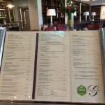 The menu for the Gilmore at Millbrook.