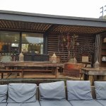 outside seating area cafe